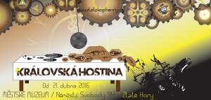 Královská hostina, grafika Jana Szkanderová- nositelka řádu KRÁL REBELŮ 2016